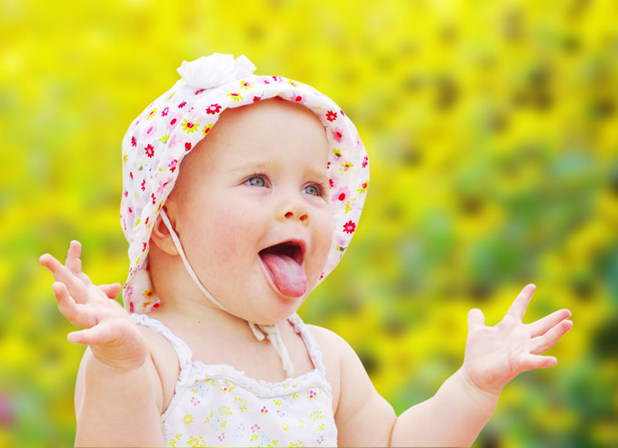 Happy Baby Girl Stock Images RoyaltyFree Images